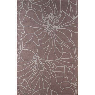 Gina Hand-Tufted Mauve Area Rug Rug Size: Rectangle 4 x 6