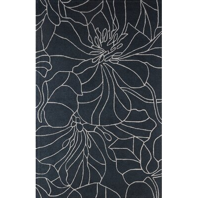 Gina Hand-Tufted Navy Area Rug Rug Size: Rectangle 4 x 6