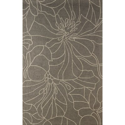 Gina Hand-Tufted Soot Area Rug Rug Size: Rectangle 8 x 10
