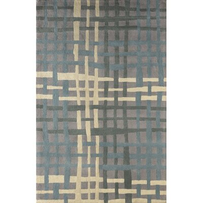 Courtney Hand-Tufted Sky Blue Area Rug Rug Size: Rectangle 4 x 6