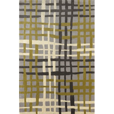 Courtney Hand-Tufted Pear/Green Area Rug Rug Size: Rectangle 4 x 6
