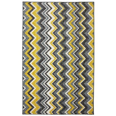 Claireville Yellow/Gray Area Rug Rug Size: Rectangle 76 x 10