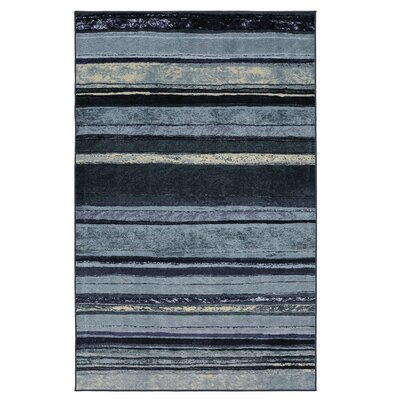 Claireville Blue/Ivory Area Rug Rug Size: Rectangle 76 x 10