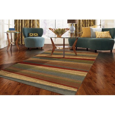 Claireville Brown / Red Area Rug Rug Size: Rectangle 5 x 8