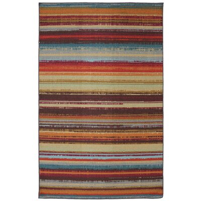 Rena Hand-Tufted Brown/Orange Indoor/Outdoor Area Rug Rug Size: Rectangle 5 x 8