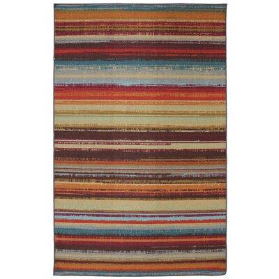 Rena Hand-Tufted Brown/Orange Indoor/Outdoor Area Rug Rug Size: Rectangle 76 x 10