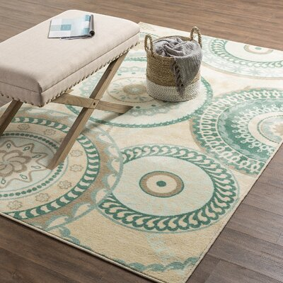 Harold Aqua Indoor Area Rug Rug Size: Rectangle 76 x 10