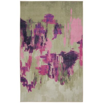 Camela Bone/Pink Area Rug Rug Size: Rectangle 8 x 10