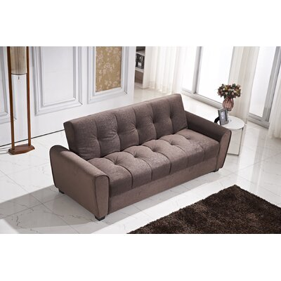 Roosevelt Click Clack Convertible Sofa Color: Dark Brown