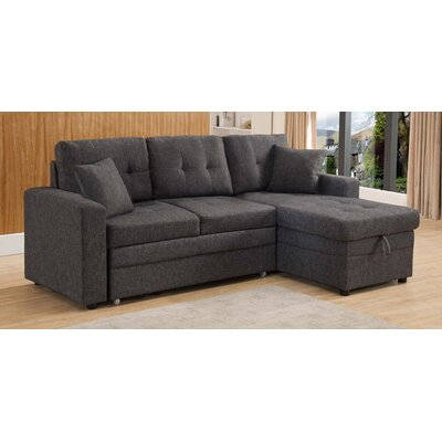 Reider Sleeper Sectional Upholstery: Gray