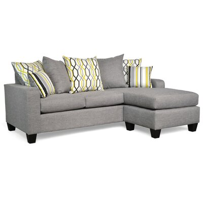 Laurie Reversible Sectional Upholstery: Oscar Sterling / Adios Mercury / Mastri Mercury