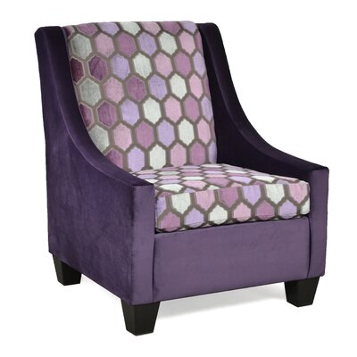 Belinda Accent Armchair Upholstery: Liberty Aubergine / MallorcaFig