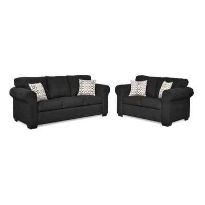 Belinda Sofa Upholstery: Due Black / Landmark Dust
