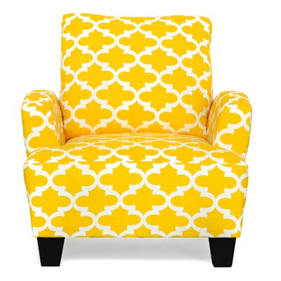 Mullins Accent Armchair Upholstery: Fynn Corn Yellow Slub