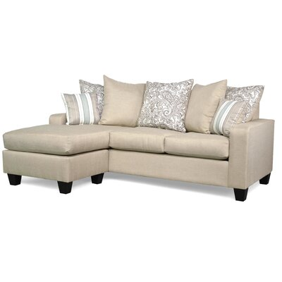Laurie Reversible Sectional Upholstery: Vibrant Linen / Lizbeth Carob / Classy Seaside
