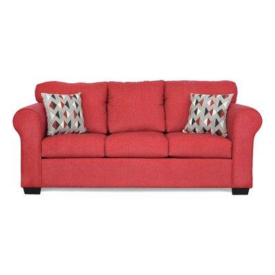 Belinda Sofa Upholstery: Due Red / Ventura Cinder