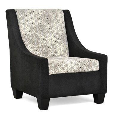 Belinda Accent Armchair Upholstery: Due Black / Neptune Cement