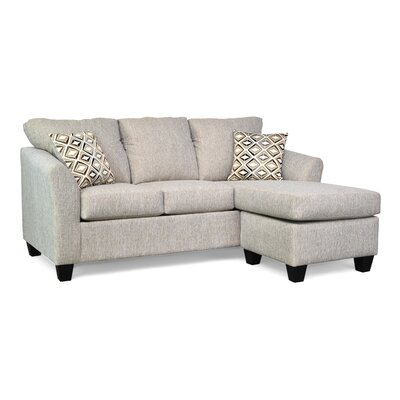 Randy Reversible Sectional with Ottoman Upholstery: Alpha 59 / Landmark Dust