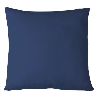 Salvaggio Edge Decorative Throw Pillow Color: Indigo