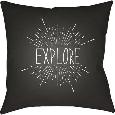 Marina Indoor/Outdoor Throw Pillow Size: 18 H x 18 W x 4 D, Color: Black