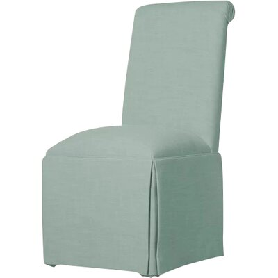 Weare Solid Back Skirted Upholstered Dining Chair Upholstery: Bahama