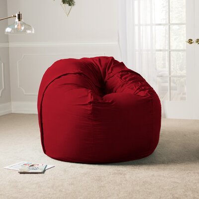 Giant Bean Bag Chair Upholstery: Cinnabar