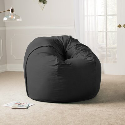 Giant Bean Bag Chair Upholstery: Black