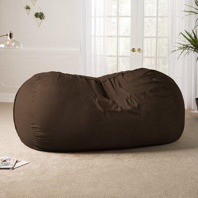 Giant Bean Bag Sofa Upholstery: Chocolate