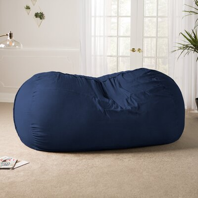 Giant Bean Bag Sofa Upholstery: Microsuede Navy