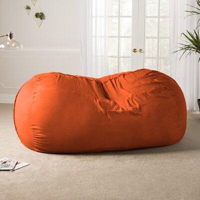 Giant Bean Bag Sofa Upholstery: Microsuede Orange
