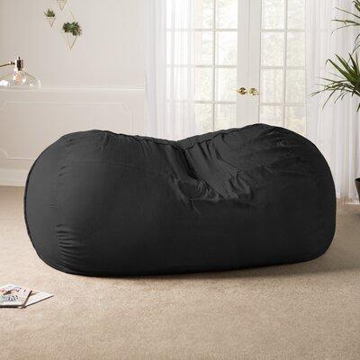 Giant Bean Bag Sofa Upholstery: Black
