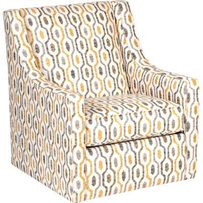 Adriel Modern Linen Swivel Armchair