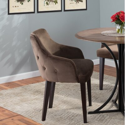 Pointer Contemporary Upholstered Dining Chair Upholstery Color: Brown