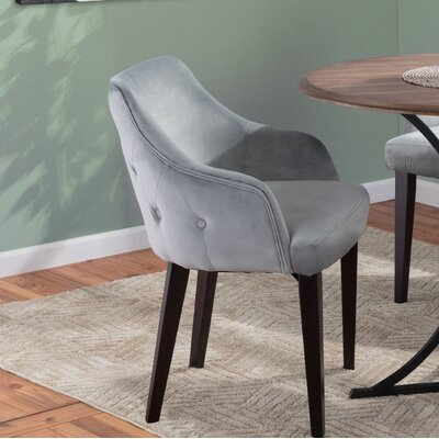 Pointer Contemporary Upholstered Dining Chair Upholstery Color: Gray