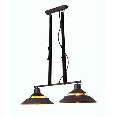 Spindler 2-Light Kitchen Island Pendant Shade Color: Black