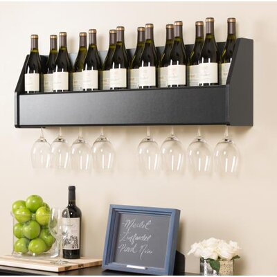 Klatt 18 Bottle Wall Mounted Wine Rack Finish: Black