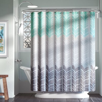Knarr Printed Shower Curtain Color: Aqua
