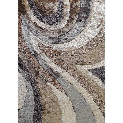 Rhynes Hand-Tufted Beige/Gray Area Rug