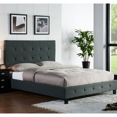Tiara Upholstered Platform Bed Size: King, Color: Pepper