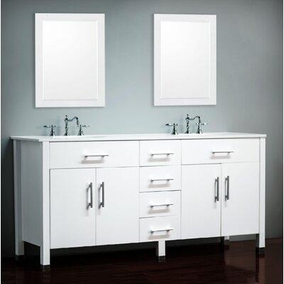 Sedlacek 72 Double Bathroom Vanity Set with Mirror