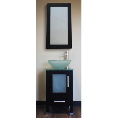 Seeber 17.25 Single Bathroom Vanity Set with Mirror Base Finish: Espresso
