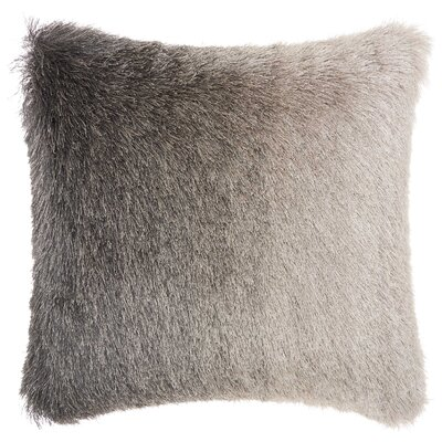Rosia Shag Throw Pillow Color: Charcoal