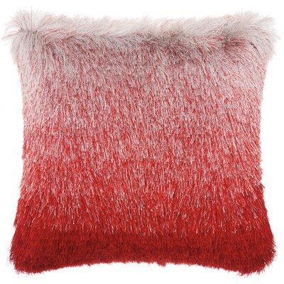 Rosia Shag Throw Pillow Color: Rose