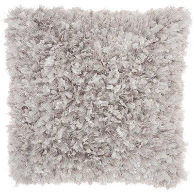 Katia Shag Throw Pillow Color: Silver