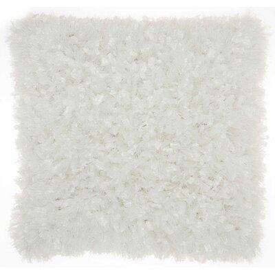 Katia Shag Throw Pillow Color: White