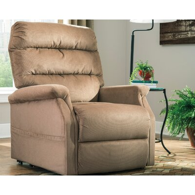 Zack Power Lift Assist Recliner Upholstery: Mocha
