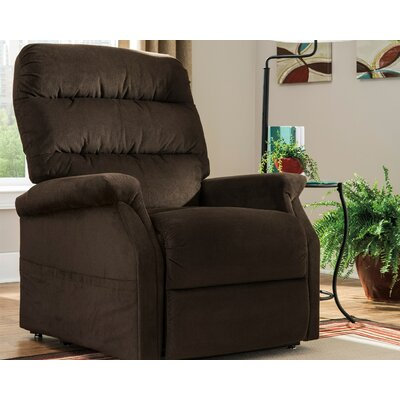 Zack Power Lift Assist Recliner Upholstery: Chocolate