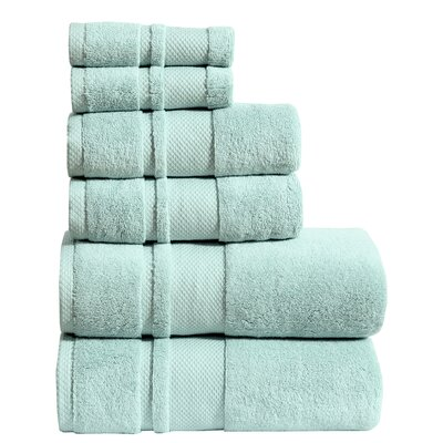 Shevchenko Place 6 Piece Towel Set Color: Aqua