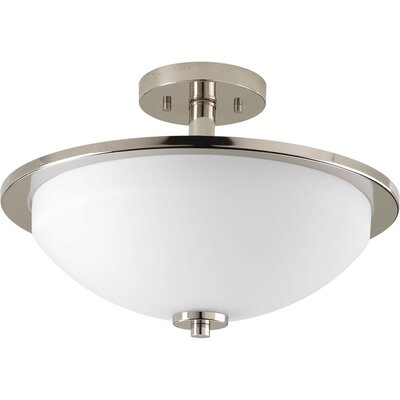Knouse 2-Light Semi Flush Mount Fixture Finish: Brushed Nickel