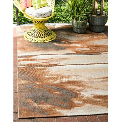 Skylar Brown Indoor/Outdoor Area Rug Rug Size: Rectangle 4 x 6